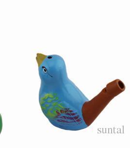 nuovo arrivo acqua uccello fischietto argilla uccello ceramica Smaltato uccello fischietto-pavone Uccelli giocattoli