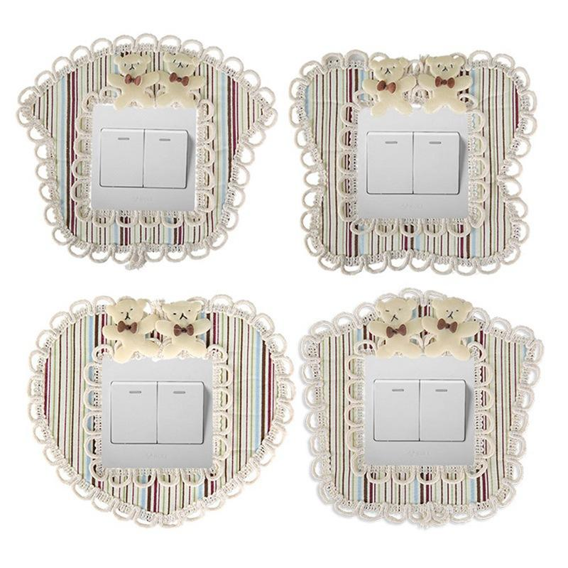 Cute Lace Home Protective Switch Covers Switch Wall Light Socket
