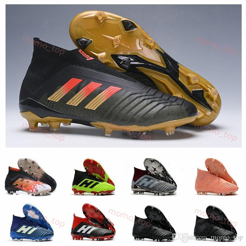 2019 2019 Kids Soccer Cleats Predator Telstar 18+ FG Mens Football Boots  Pogba Soccer Shoes Crampons Chaussures De 2018 World Cup Football Cleats  From ... 7f8336d1614df