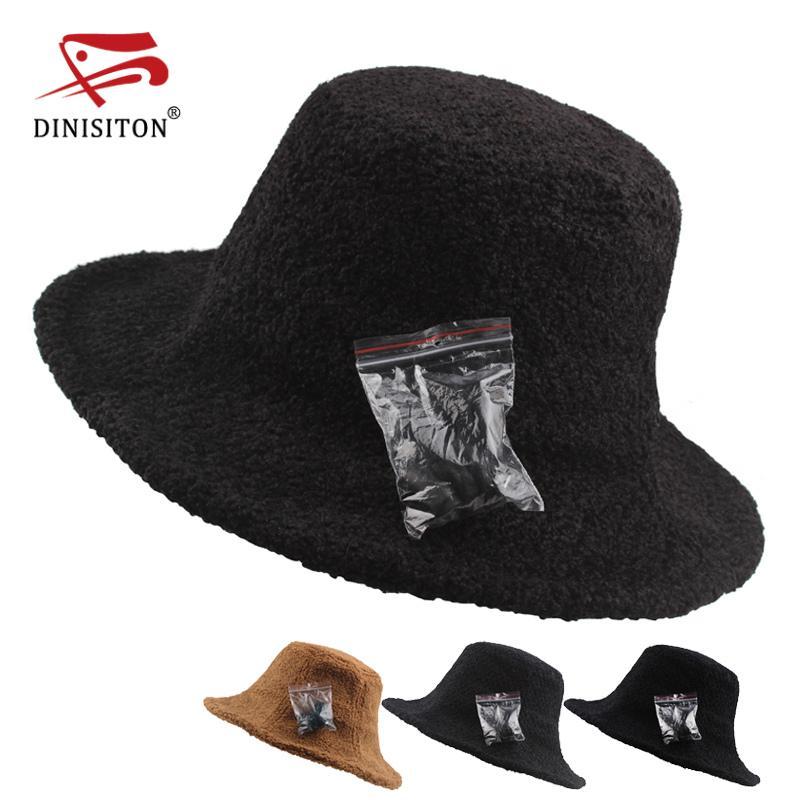 DINISITON 2018 Hot Sale Solid Colors Bucket Hats For Women New Pillbox Hat  Women S Wide Brim Felt Bowler Fedora Hat MA 030 Summer Hats Winter Hats For  Women ... 0bea79a92a1