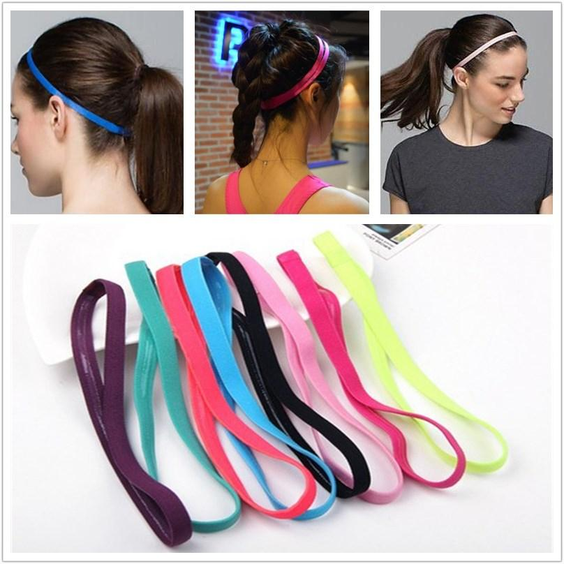 a4cfbf73d13e 2019 Women Men Yoga Hair Bands Sports Headband Anti Slip Elastic Rubber  Sweatband Football Yoga Running Biking From Emmanue