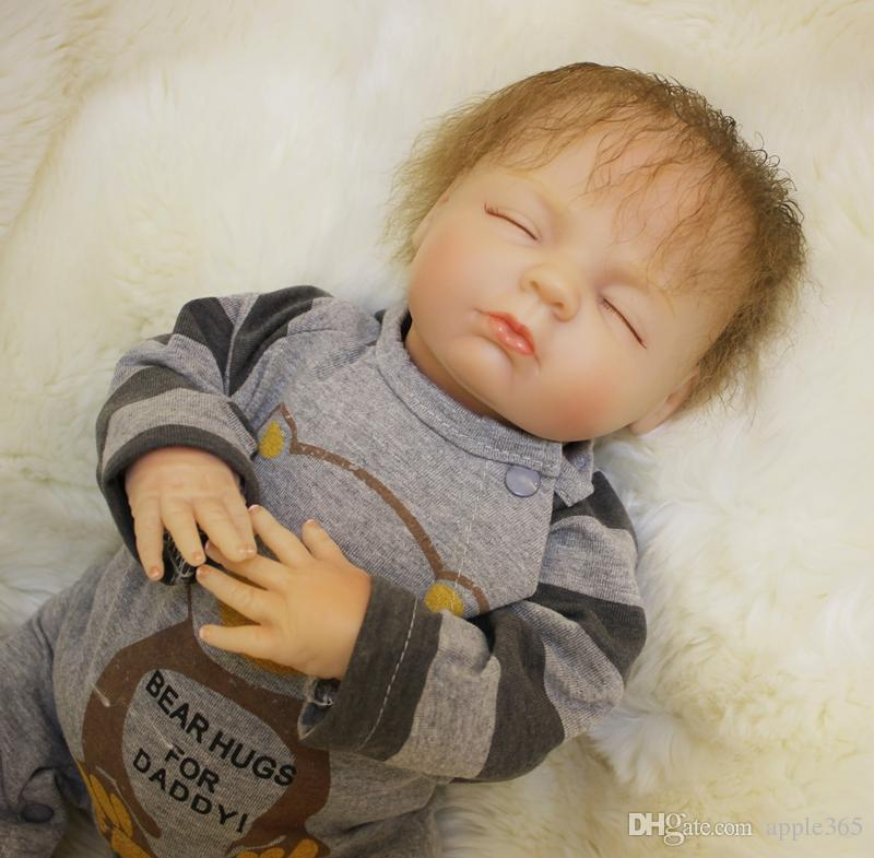 "2018 NEW 18""45cm very lovely REBORN BABY Lifelike handmade silicone vinyl doll/SDK-80R1"