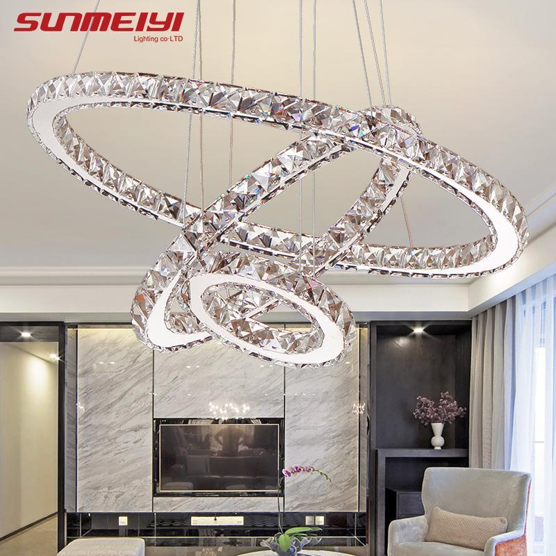 Großhandel Moderne LED Kristallleuchter Lichter Lampe Für Wohnzimmer ...