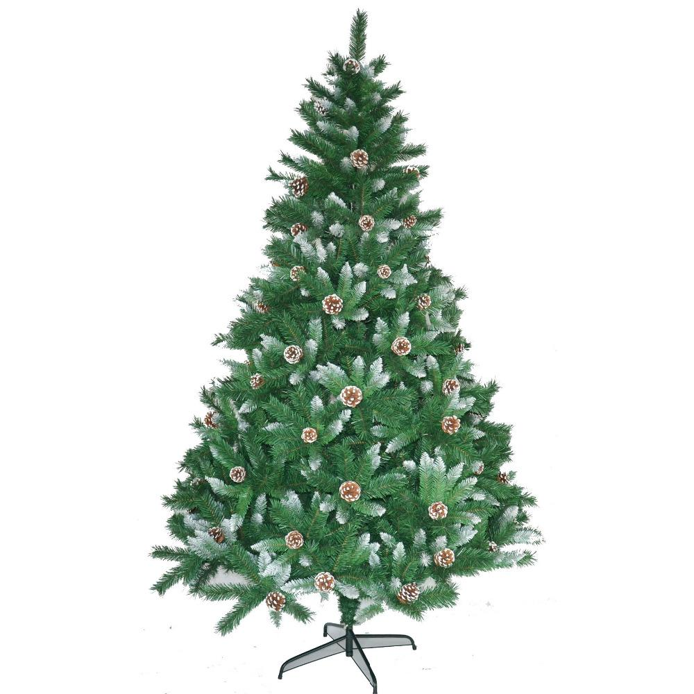 Christmas Tree Spray.Basics Tree 2 1meters Christmas Day Artificial Christmas Tree With Pinecone Spray White Effect Holiday Necessities Fake Pinetree