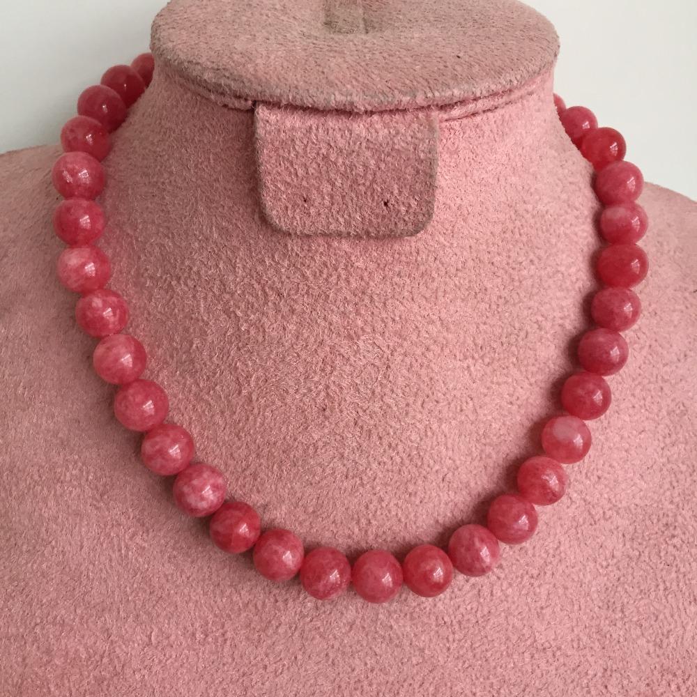 4afc92e3872e Compre 45 Cm 10 Mm Noble Rubíes Rojos Collares Genuino Sin Tinte Collar  Original Para Las Mujeres Accesorios Novia Regalo Fiesta De Lujo Prom A   77.72 Del ...