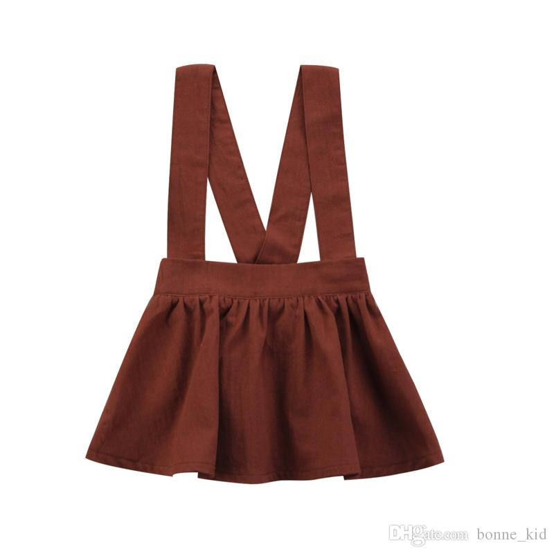 3babdd75943 2019 2018 Kids Baby Girls Suspender Skirt Tutu Dresses Brown Overalls Skirts  With Shoulder Straps Kid Girl Party Dress Kid Clothing 6M 3Y From  Bonne kid