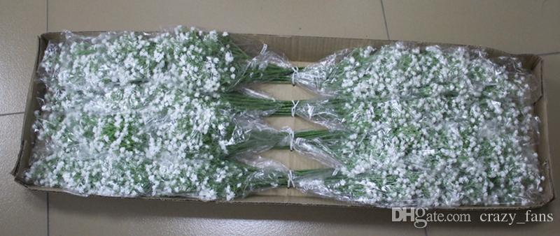 100 unids Artificial Baby Breath Flores Artificial Gypsophila Falsa Flor de Seda Planta Home Wedding Party Home Decoration