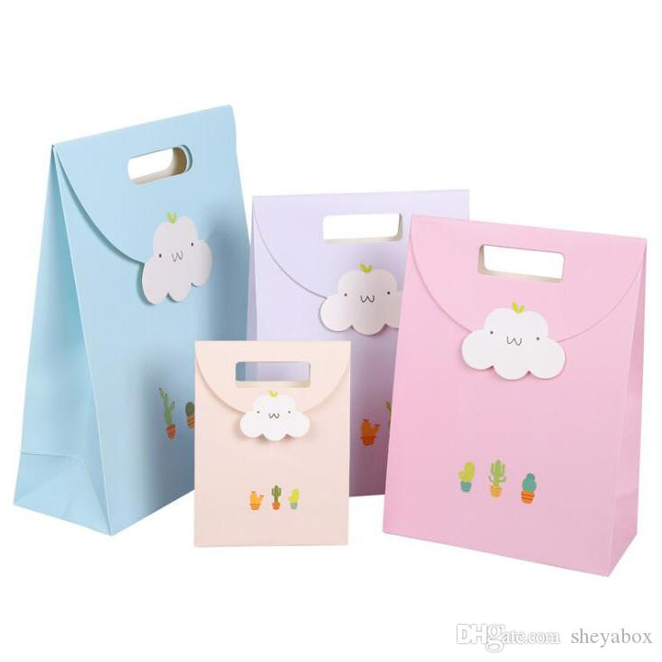 Cute Little Paper Gift Bags Girls Fashion Jewelry Clothes