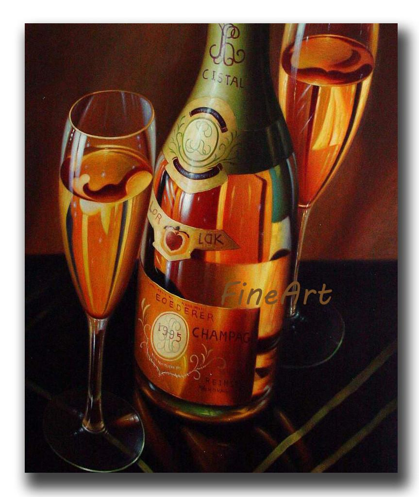 2019 Hand Painted Wine Glass Oil Painting Wine Canvas Art Wall Art