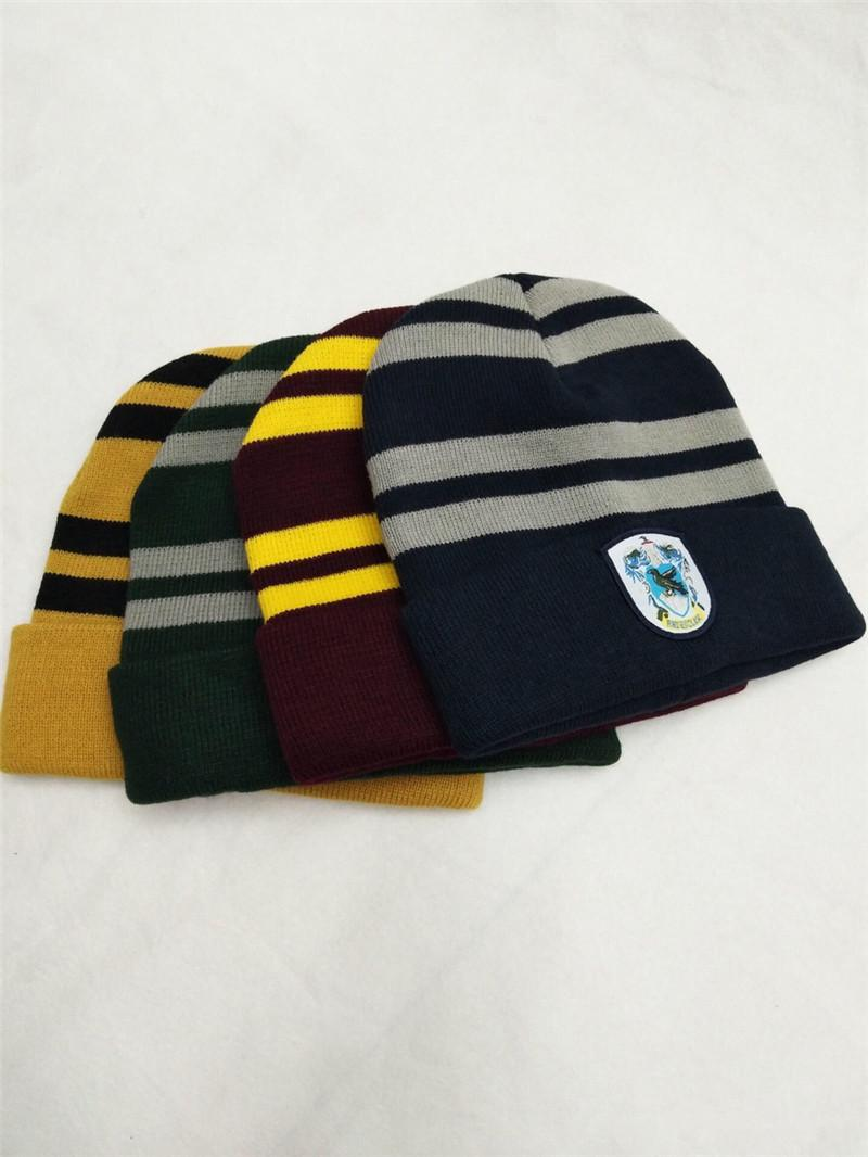 Harry Potter Hats Hogwarts Ravenclaw Gryffindor Slytherin Hufflepuff  College Beanie Winter Knit Hat Skull Cosplay Caps For Women Big Kids UK  2019 From ... 452c9b5c1616