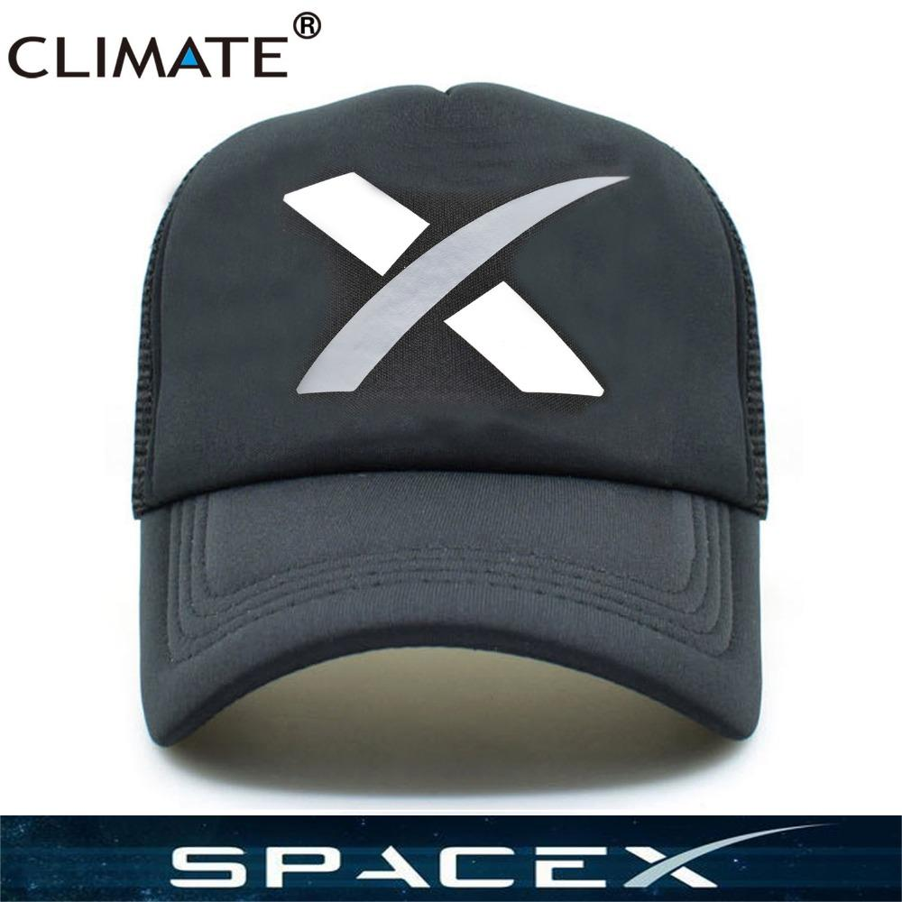 CLIMATE Hot Spacex Space X Black Summer Cool Caps UFO Outer Space ... 945fd3d71362