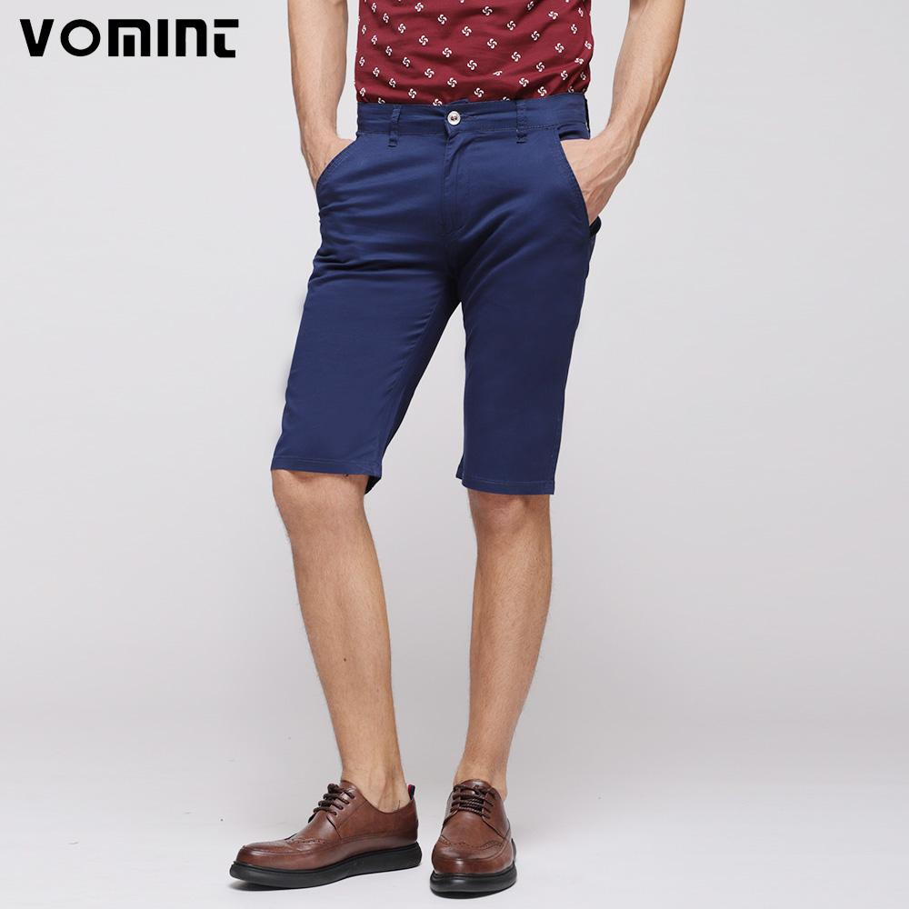8709b48ebf04d 2019 Vomint 2018 Summer New Men'S Basic Shorts Smart Casual Fashion Pockets  Solid Color Black Blue Khaki Large Size 40 42 44 46 From Jilihua, ...