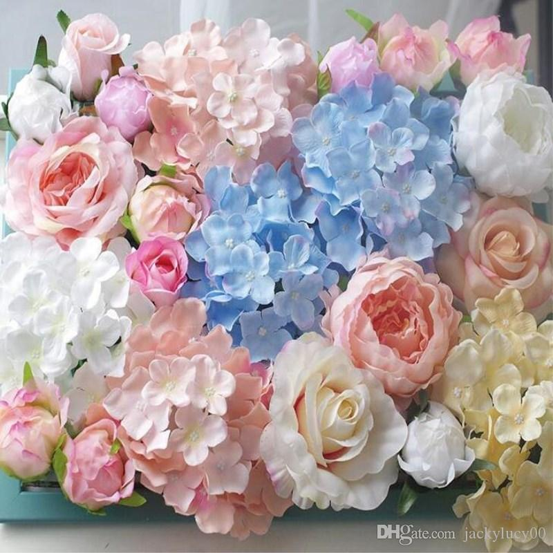 2019 27 Petals Each Simulation Silk Hydrangea Flowers Heads For