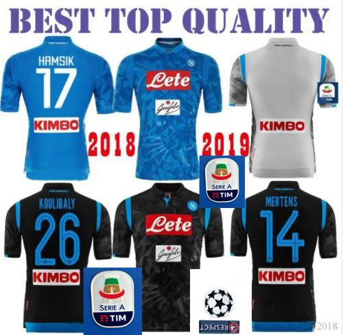 faf946914 2019 2018 2019 Napoli Soccer Jersey Home Away THIRD 18 19 Naples ZIELINSKI  HAMSIK INSIGNE MERTENS CALLEJON PLAYER ROG Football Shirts Top Quality From  ...