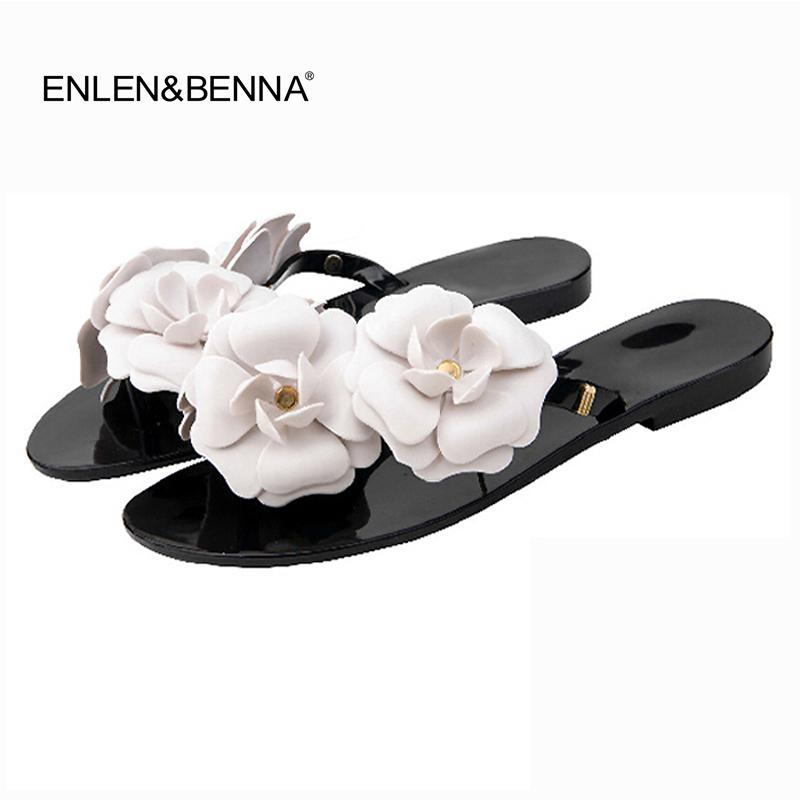 c86e6e460d29a2 2017 Summer Women Slippers Flip Flops Outside Women Sandals Female Candy  Color Beach Shoes With Floral Ladies Jelly Shoes Sandal Ladies Footwear  Fashion ...