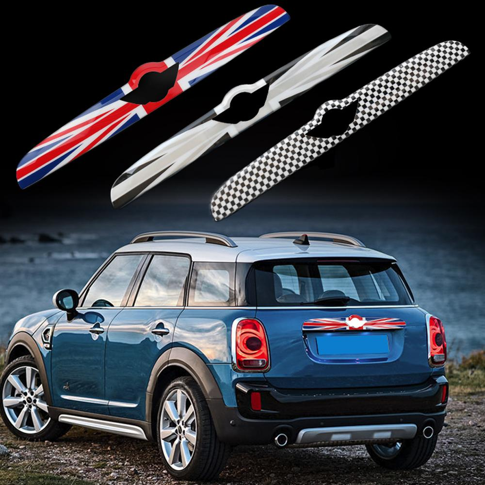 Union Jack Abs Rear Tail Trunk Lid Molding Trim Decoration Cover