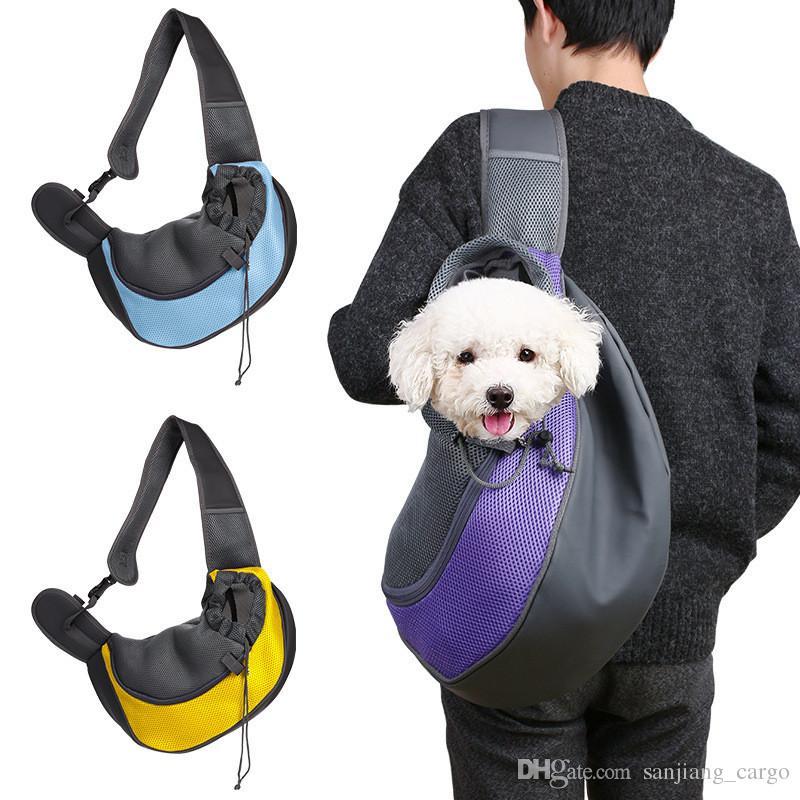 Pet Yavru Köpek Kedi Taşıyıcı Taşınabilir Çanta Sırt Çantası Açık Seyahat Küçük Katlanabilir Tote Ön Göğüs Omuz Çantaları