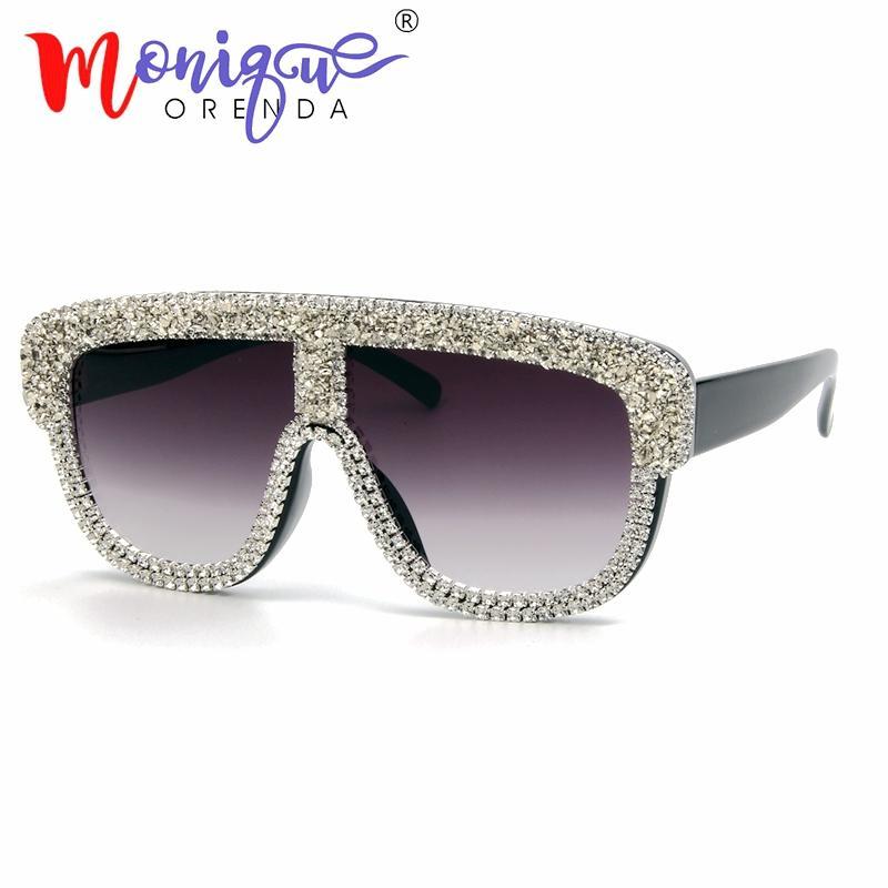 45cd906cf5 Sunglasses Women 2018 Luxury Brand Designer Small Gravel Rhinestone  Oversized Men Sun Glasses Vintage Shades Oculos Feminino Cat Eye Sunglasses  Round ...