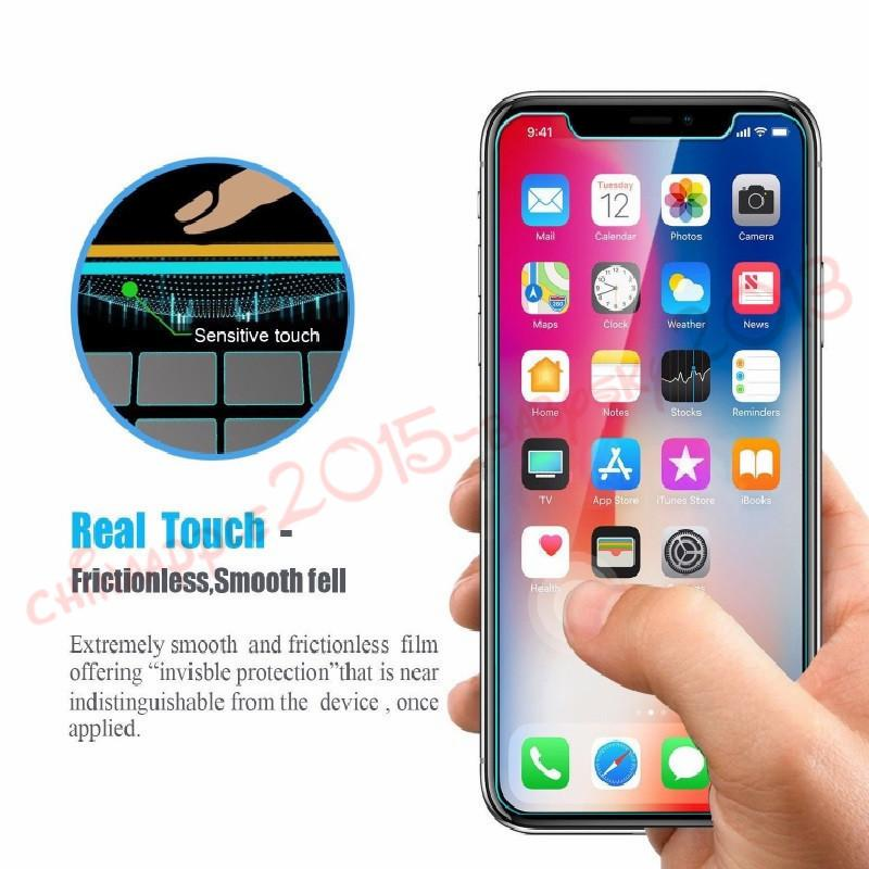 Gehärtetes glas für iphone 5 6 7 8 plus x xr xs max displayschutzfolie lcd anti-spion film screen guard abdeckung schild mit kleinpaket