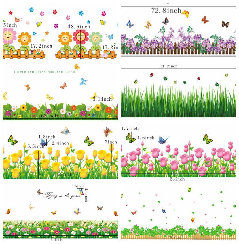 zs sticker flowers wall sticker natural home decor grass home decor