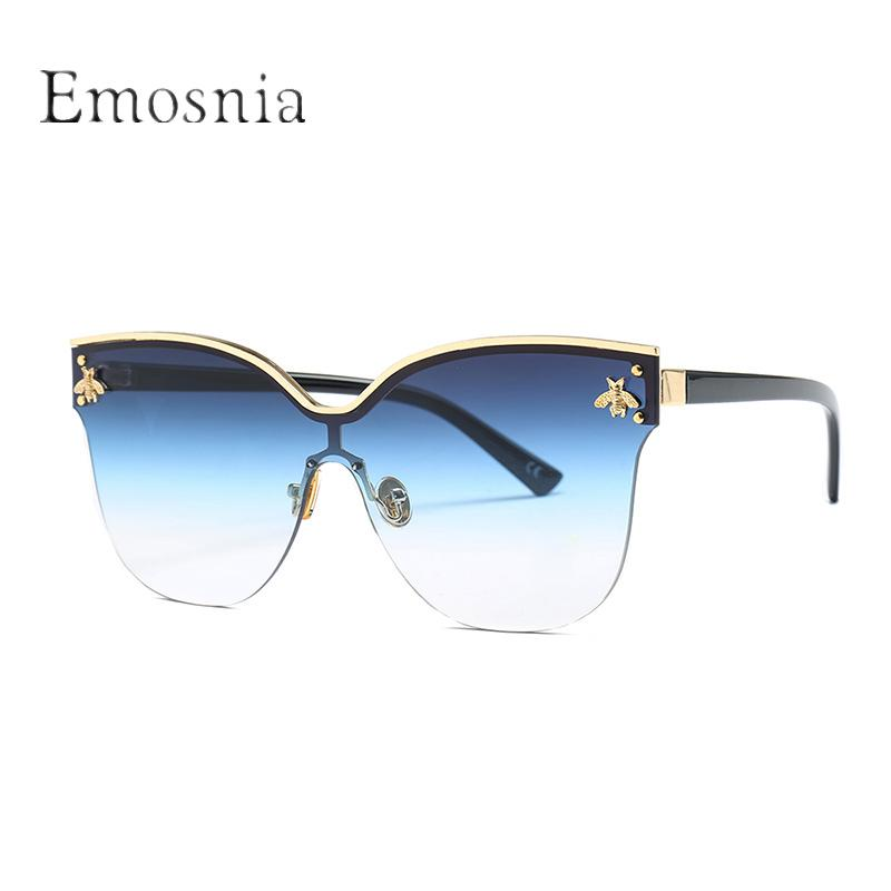 af71dea258b Emosnia 2018 Ladies Women Semi Rimless Cat Eye Sunglasses Metal Decoration Sun  Glasses Male Grey Shades UV400 Goggles Oculos Womens Sunglasses Sunglasses  ...