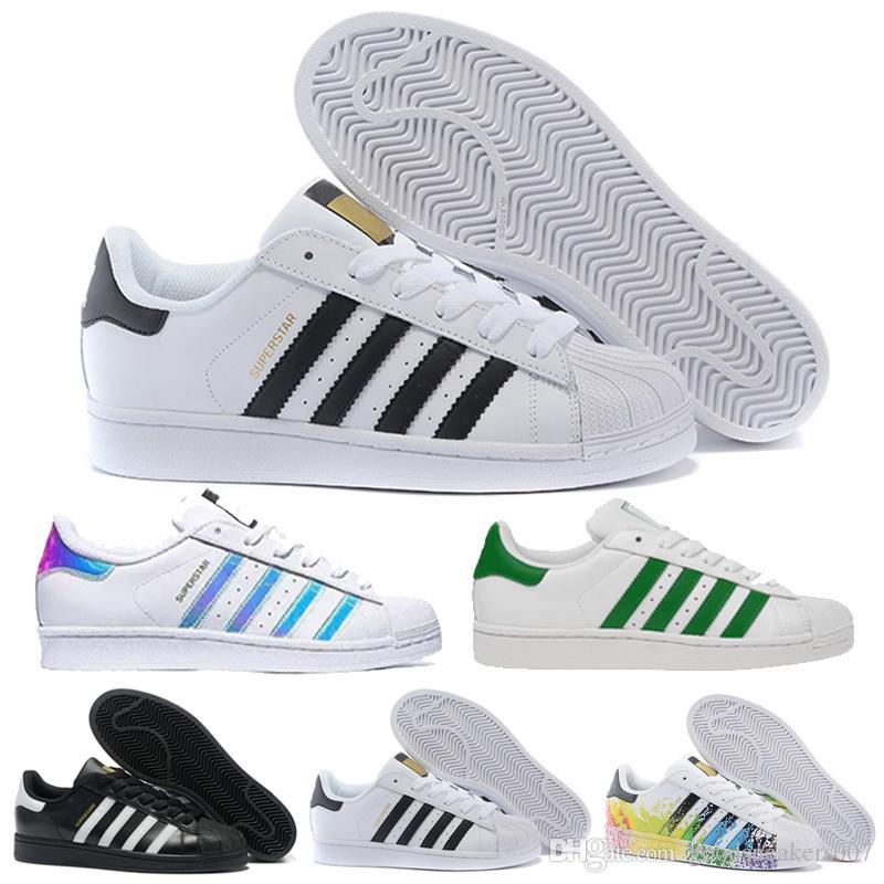 9104f343d1 Großhandel Sommer Neue Adidas Originals Superstar Weiß Hologramm  Irisierenden Junior Superstars Der 80er Jahre Stolz Sneakers Super Star  Frauen Männer Sport ...