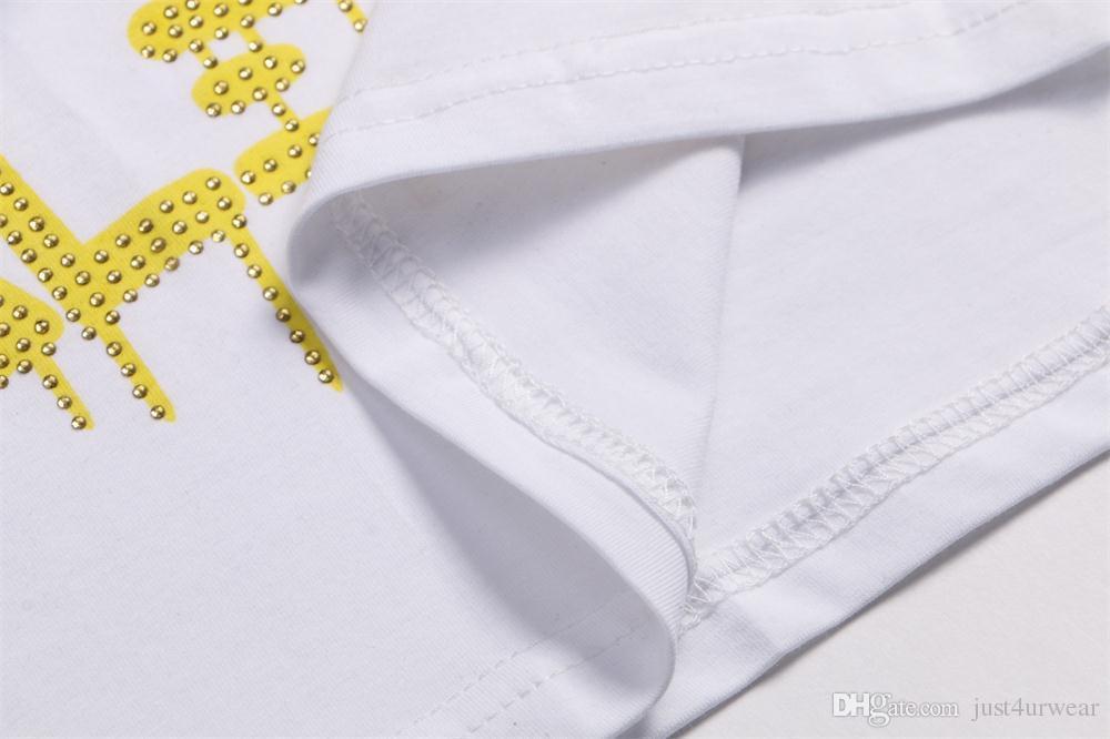 Mens Luxury Money Letter Print T-Shirts Marca de manga corta camiseta Diseñador Duck Tees Males Fashion Loose Streetwear Tees Tops