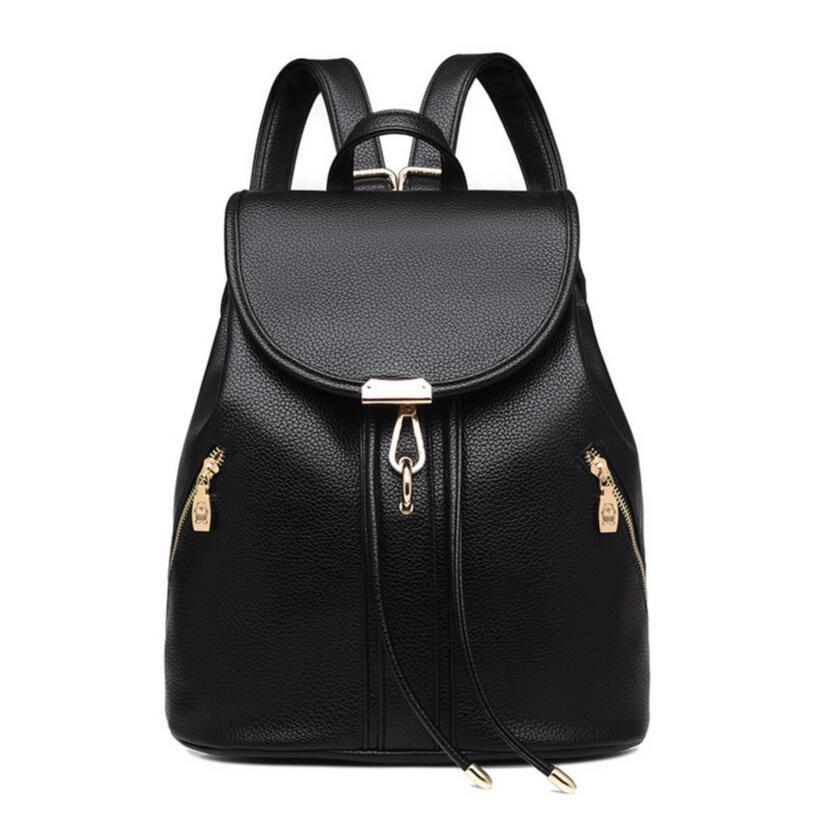 1324cd9a1b3b5 Black Drawstring Leather Backpack Women Travel Bags Female Casual Bag  Ladies Shoulder Bag For Notebook Girl Schoolbag Bagpack Womens Backpacks  Pink ...