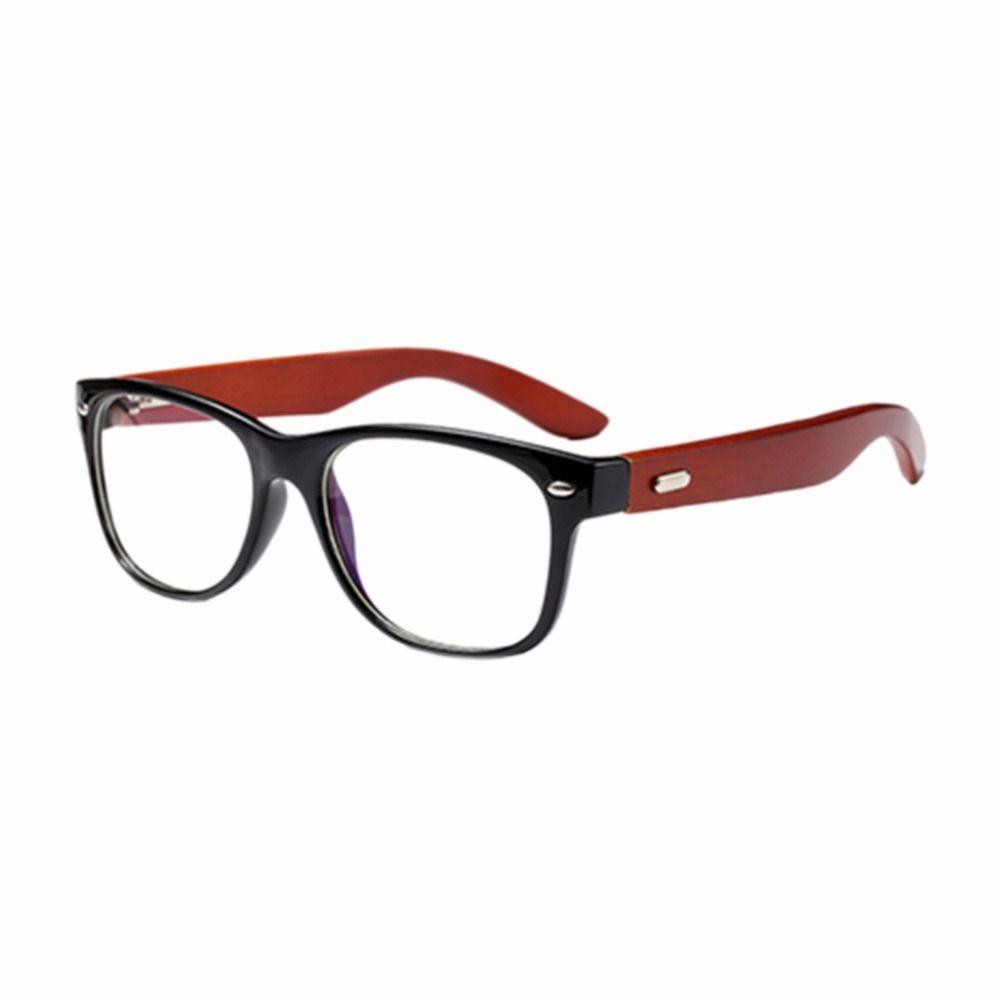 f56e56ea0ba 2019 Retro Bamboo Wood Temple Optical Glasses Full Frame Non Prescription  Clear Lens Glasses Unisex Outdoor UV400 Eye From Watercup