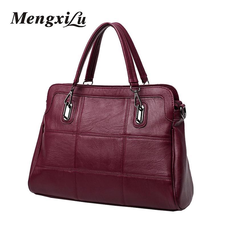 42ffd5eb74 High Quality Women Handbag Female PU Leather Bag Large Capacity Black Tote  Bag Female Shoulder Fashion Patchwork Handbag Mens Leather Bags Laptop  Messenger ...