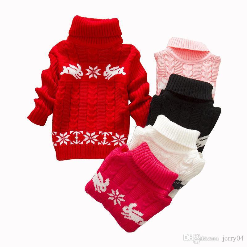 c8871b966 Girls Sweater Rabbit Easter Autumn 2018 New Baby Girl Sweater Baby Long  Sleeve Turtleneck Winter Sweaters For Girls Girls Sweater Knitting Patterns  Sweater ...