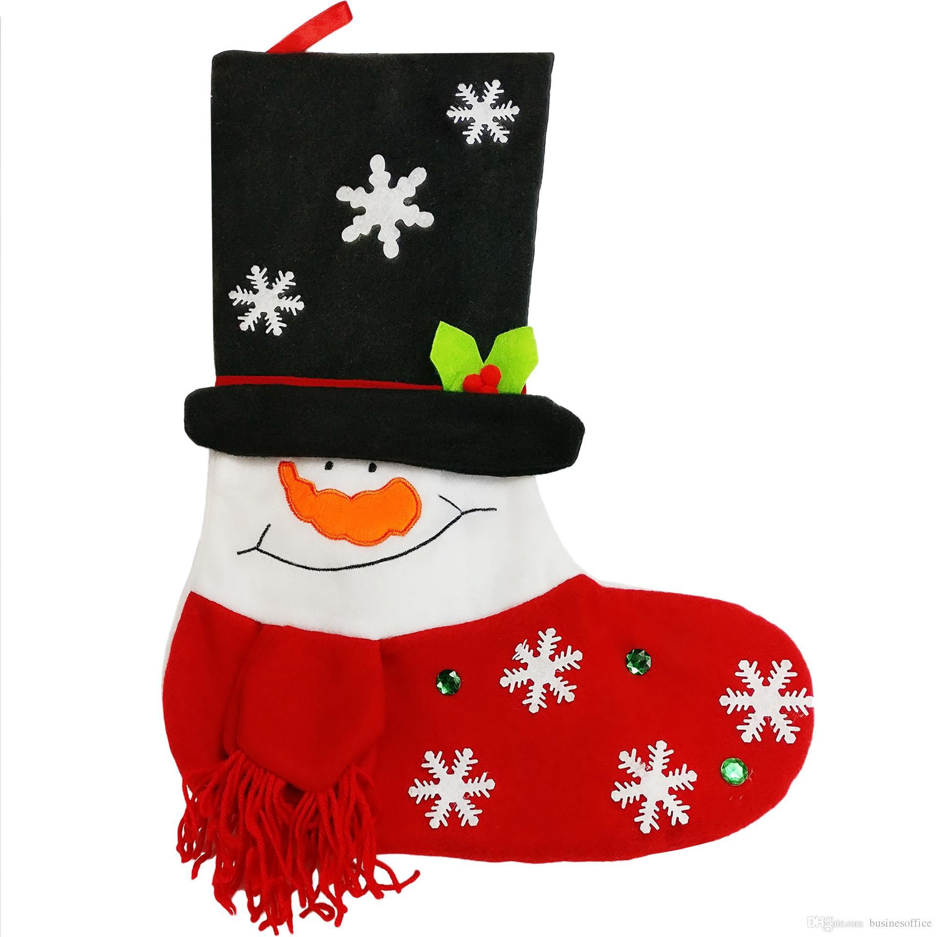 Christmas Decorations Cartoon Socks Gift Bags Factory Outlets