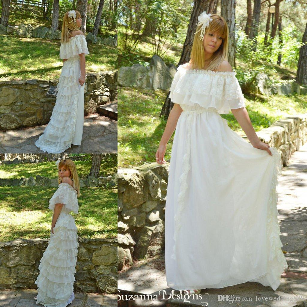 Discount Garden Country Style Ivory Lace Wedding Dresses Off ...