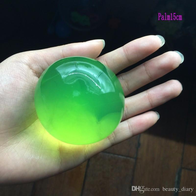 forme de perle 13-15mm grand cristal sol eau perles boue grandir magie jelly ball enfants jouet de mariage décor à la maison hydrogel