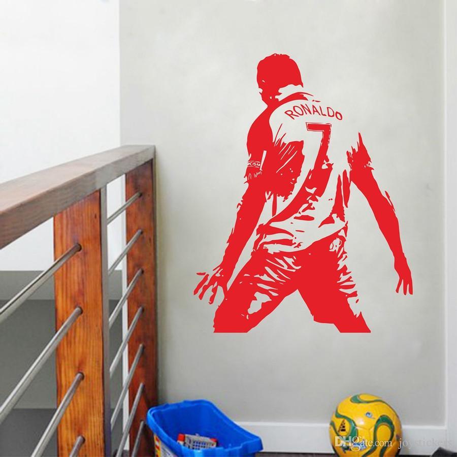 Cristiano Ronaldo Vinyl Wall Sticket Soccer Athlete Ronaldo Wall Decals Art Mural For Kis Room/Living Room Decoration 44*57 cm