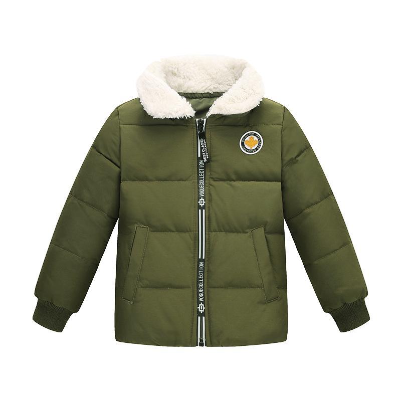 282e5ac2c705 Kids Winter Down Jacket In Army Green B Boys Girls 90% Duck Down ...