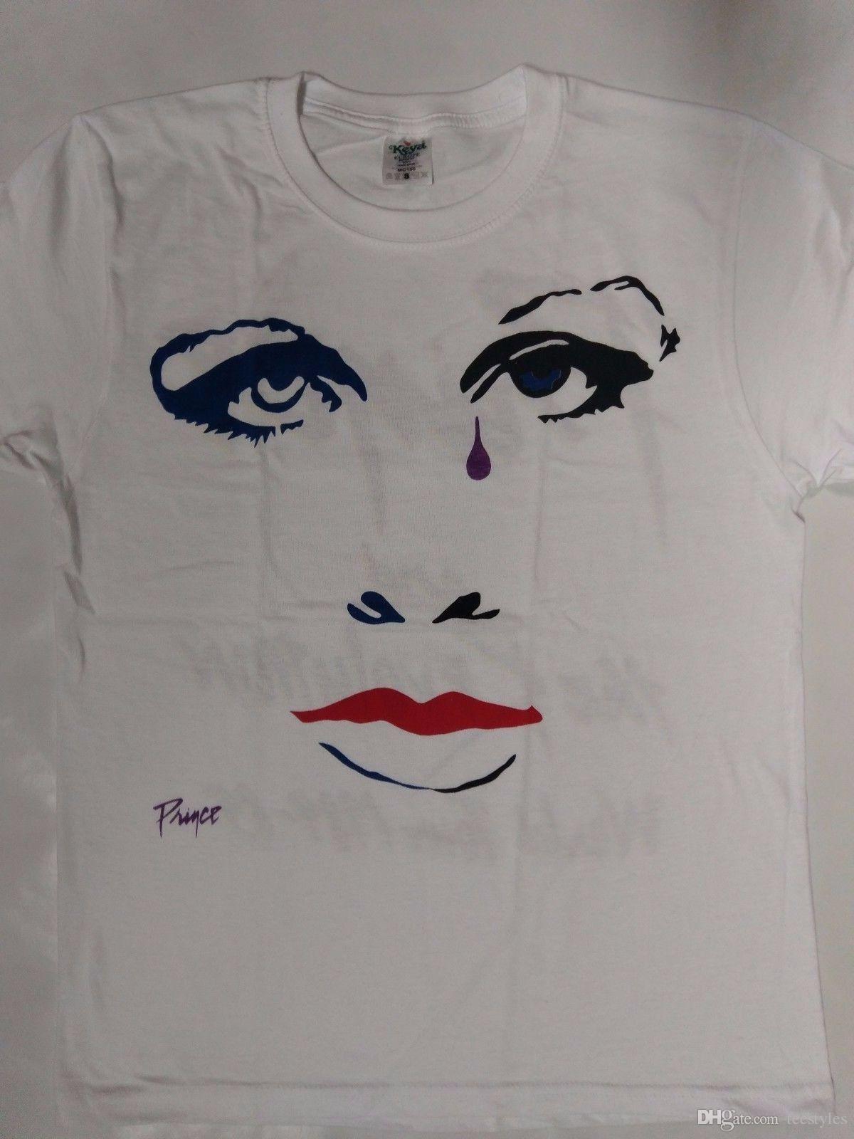 873ed47e Purple Rain Tour 84 85 Doves Cry White T Shirt S Xxxl T Shirt Cheap Clothes  Cotton Plus Size Short Sleeve Custom Funny T Shirts Dress Shirt Cheap T  Shirts ...
