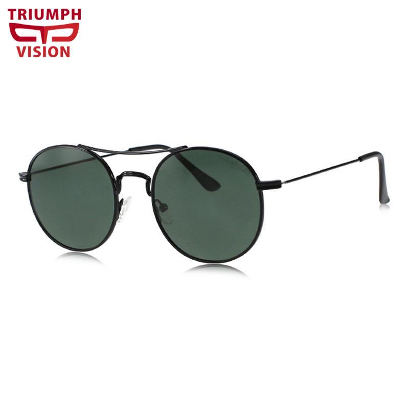78233f16dfd Compre TRIUMPH VISÃO Clássica Óculos De Sol De Design Da Marca Unisex  Polarizada Retro Rodada Óculos De Sol Condução Verde Verão Gafas De Sol De  ...