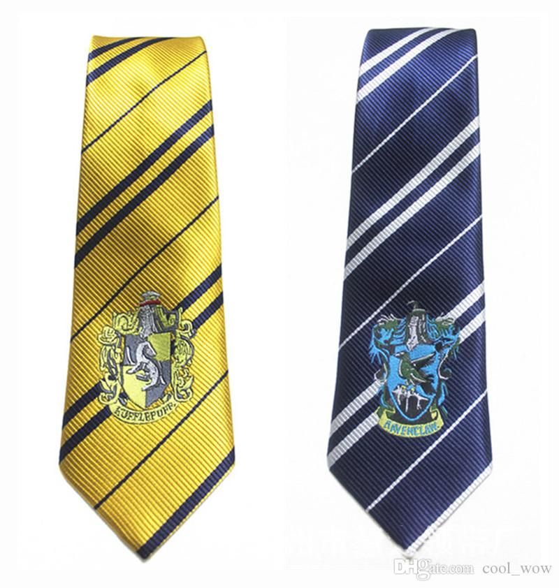 Harry Potter Ties 의류 액세서리 Borboleta NeckTie Ravenclaw Hufflepuff 넥타이 Hogwarts Stripe Ties 4 디자인
