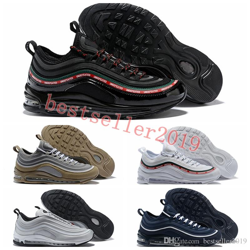 ab8c057c2a7 2018 Undefeated 97 UL 17 Running Shoes Mens Trainers 97s Ultra SE Triple  Black White Green Gold Silver Bullet Brand Deigner Sneakers Shoe 97 Shoes  97 Shoes ...