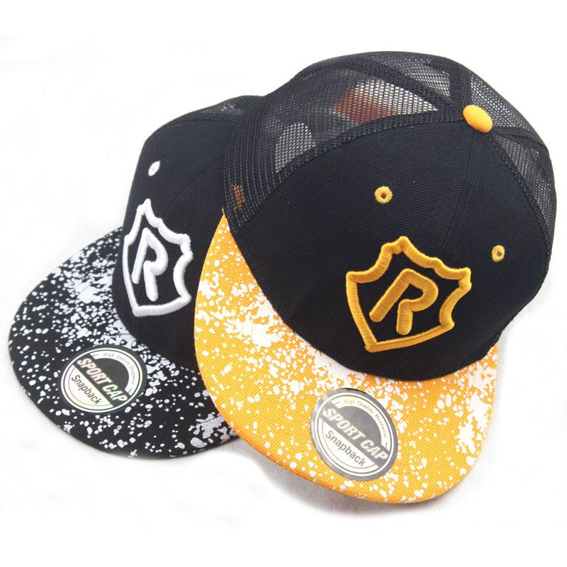 9d4bf2e0c49 New Kids Baseball Cap Fashion Embroidery R Letter Children Snapback Caps  Boys Girls Mesh Sun Hats Wholesale Hats Caps Online From Cfyh2018