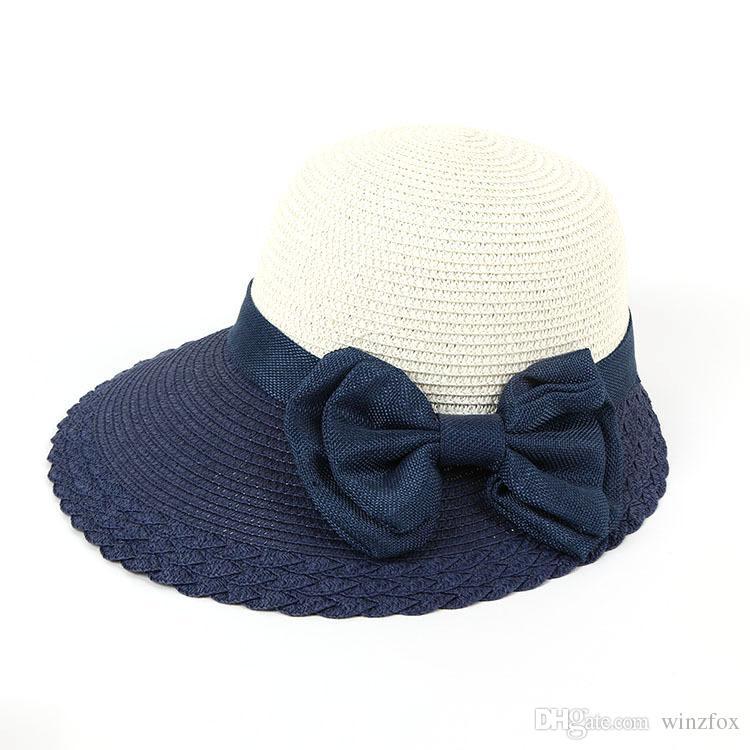 e946cf942b6 EPU-MH1878 2018 Combo Colored Female Ladies Paper Straw Hat Sun ...