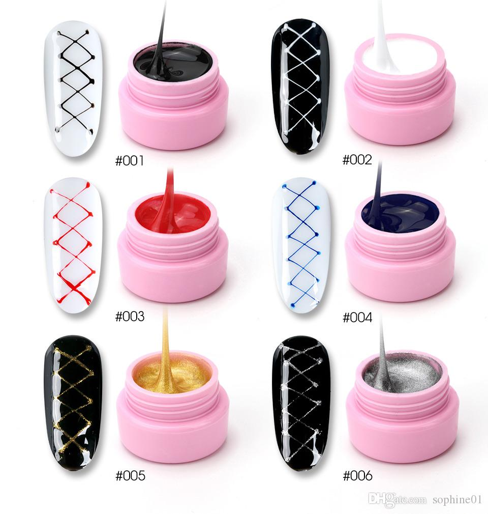 Nail Gel Creative Plastic Silk Drawing Spider Nail Gel Point To Line Painting Gel Lacquer Varnish Pulling Silk Spider Nail Art Gelpolish Nails Art & Tools