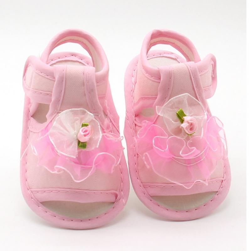 d6b07407 Compre Rosa Blanco Rojo Bebé Niña Flores De Encaje Sandalias Tela De  Algodón Sandalias Femeninas Chica Zapatos De VeranoFlores Nuevo A $23.92  Del Moongate ...