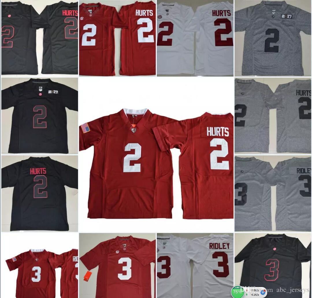 954b4ba12 Mens NCAA SEC Alabama Crimson  2 Tide Jalen Hurts College Football ...