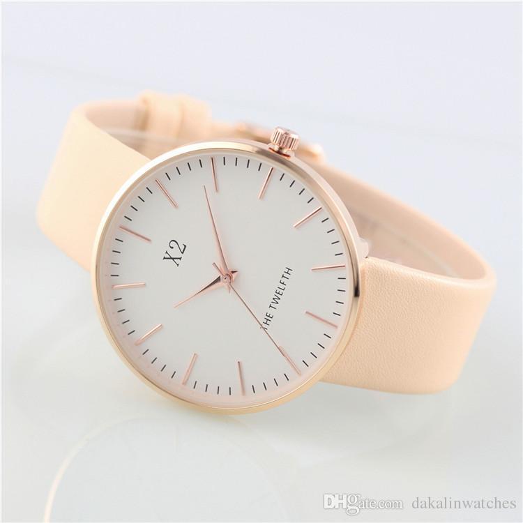 New Fashion Brand Women's Leather Strap Quartz Watch 40MM Lady Dress Casual Clock Japanese Original Movement Watch Wholesale