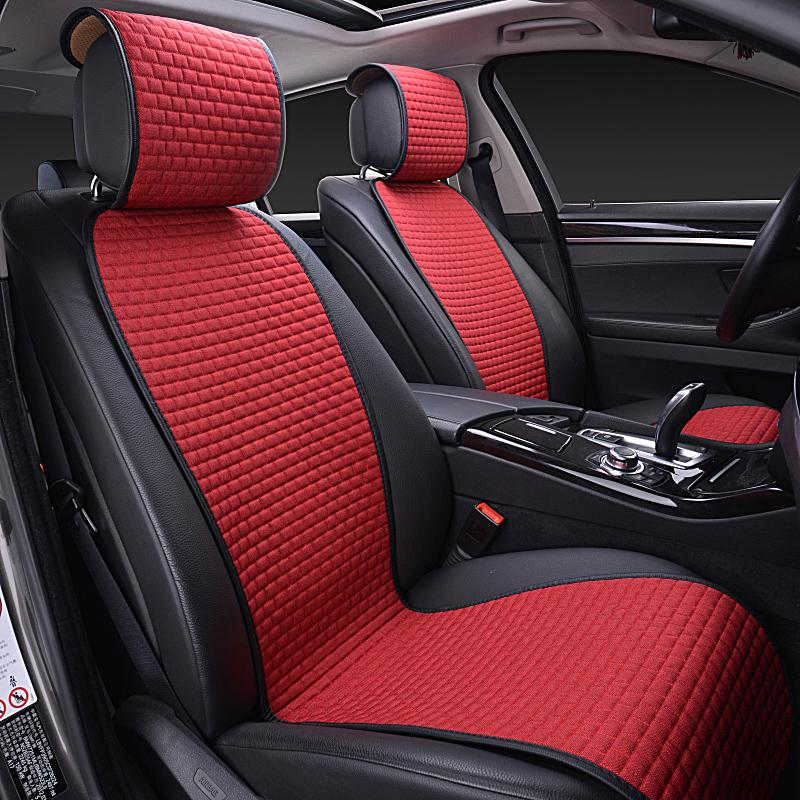 linen fabric breathable car seat cushion fit most car interiorlinen fabric breathable car seat cushion fit most car interior accessories seat cover universal auto covers protector pad for car seat padded car seat