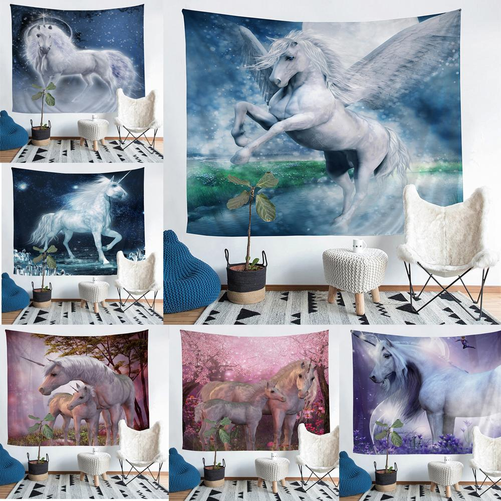 Wholesale Unicorn Tapestry Fresco Yoga Beach Blanket Towel Home Decoration  Beachwear Bath Throw Shawl Rugs Tablecloths Wool Tapestries Wool Tapestry  From ...