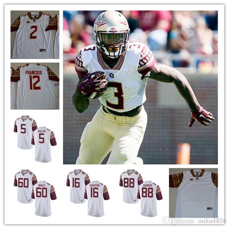 Mens FSU Cam Akers College Football Jerseys Deion Sanders J.J. Cosentino  Deondre Francois NCAA ACC Florida State Seminoles Jersey M-4XL Deion Sanders  J.J. ... 3649b376a
