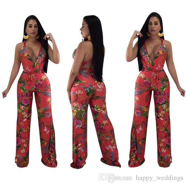 ec4ce19d5d1a Sin mangas Monos Monos traje de V-cuello del verano de las mujeres  playsuits casual sexy moda vendaje mamelucos cuerpo de mujer